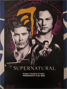 Supernatural 2015 San Diego Comic-Con exclusive mini CW promo poster MINT