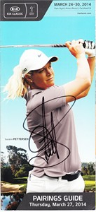 Suzann Pettersen autographed 2014 LPGA Kia Classic pairings guide