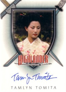 Tamlyn Tomita certified autograph Highlander card