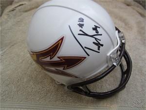 Taylor Kelly autographed Arizona State Sun Devils mini helmet