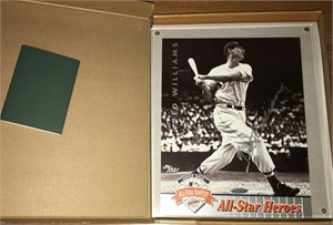 Ted Williams autographed Boston Red Sox 1992 All-Star Heroes Upper Deck photo card ltd edit 521 (UDA)