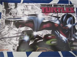 Teenage Mutant Ninja Turtles 2014 Comic-Con Nickelodeon mini promo poster