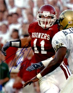 Teddy Lehman autographed Oklahoma Sooners 8x10 photo
