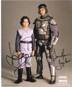 Temuera Morrison & Daniel Logan autographed Star Wars Jango & Boba Fett 8x10 photo
