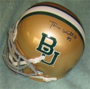 Terrance Williams autographed Baylor Bears mini helmet
