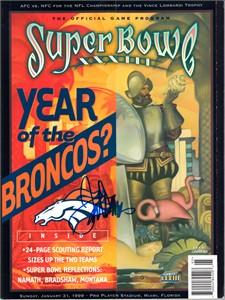 Terrell Davis autographed Denver Broncos Super Bowl 33 game program
