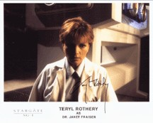 Teryl Rothery autographed 8x10 Stargate SG-1 Dr. Janet Fraiser photo