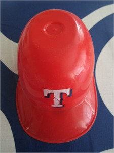 Texas Rangers mini ice cream batting helmet