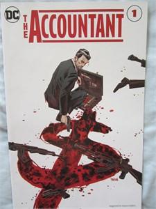 The Accountant movie 2016 Comic-Con promo DC comic book