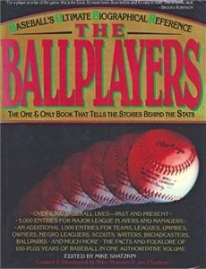 The Ballplayers 1990 baseball reference hardcover book