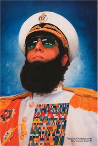 The Dictator mini teaser movie poster (Sacha Baron Cohen)