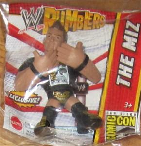 The Miz 2013 Comic-Con exclusive Mattel WWE Rumbler mini action figure MINT