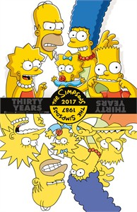 The Simpsons Thirty Years 2017 Comic-Con 11x17 inch mini poster