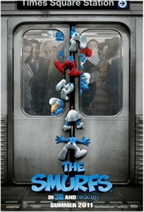 The Smurfs 2011 mini movie poster (Katy Perry)