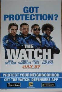 The Watch 2012 Comic-Con exclusive mini 11x17 movie poster numbered limited edition of 2000 (Jonah Hill Ben Stiller Vince Vaughn)