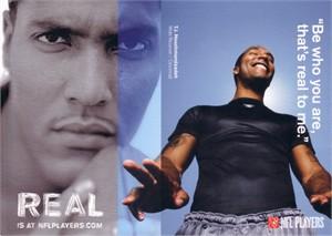 T.J. Houshmandzadeh NFL Players jumbo postcard