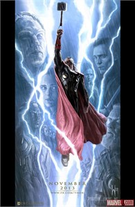 Thor 2 Dark World 2013 Comic-Con exclusive promo Marvel movie poster