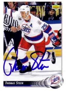 Thomas Steen autographed Winnipeg Jets 1992-93 Upper Deck card