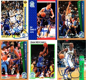 Thurl Bailey autographed Minnesota Timberwolves 1991-92 Upper Deck card