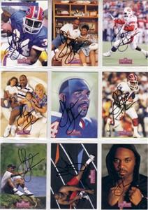 Thurman Thomas certified autograph 1992 Pro Line Profiles 9 card set