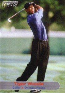 Tiger Woods 2002 Sports Illustrated for Kids golf card