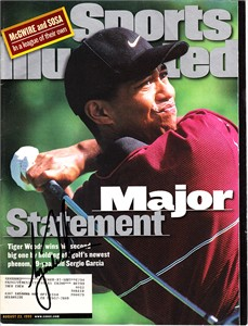 Tiger Woods autographed 1999 PGA Championship Sports Illustrated