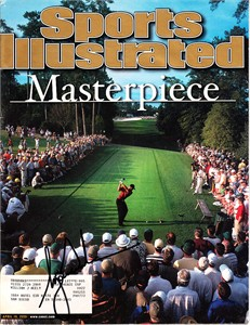 Tiger Woods autographed 2001 Masters Sports Illustrated