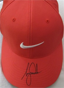 Tiger Woods autographed Nike 20XI Tour orange golf cap or hat