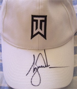 Tiger Woods autographed TW logo Nike golf cap or hat