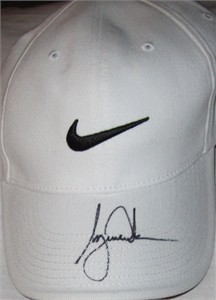 Tiger Woods autographed white Nike golf cap or hat