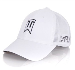 Tiger Woods TW logo white mesh Nike golf cap or hat NEW
