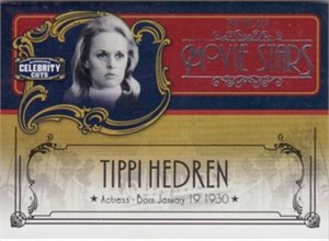 Tippi Hedren Donruss Americana Celebrity Cuts insert card #66/200