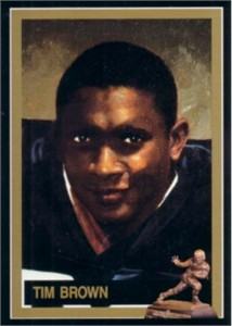 Tim Brown Notre Dame Heisman Trophy winner card