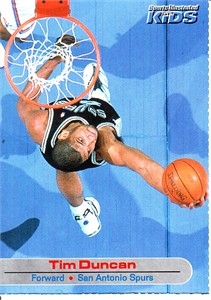 Tim Duncan 2001 Sports Illustrated for Kids card