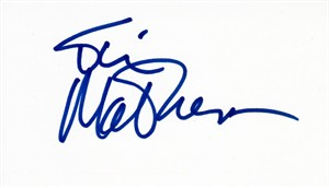 Tim Matheson autographed index card