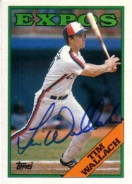Tim Wallach autographed Montreal Expos 1988 Topps card