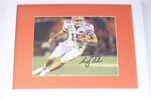 Tim Tebow autographed Florida Gators 2008 BCS Championship Game 8x10 photo matted & framed