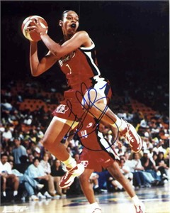 Tina Thompson autographed WNBA Houston Comets 8x10 photo (TriStar)
