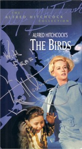 Tippi Hedren autographed The Birds VHS video
