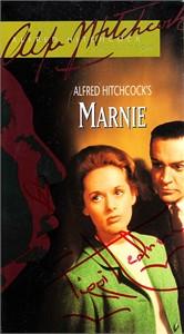 Tippi Hedren autographed Marnie VHS video