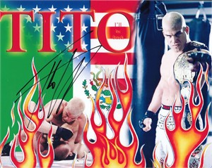 Tito Ortiz autographed 8x10 MMA photo
