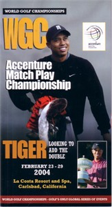 Tiger Woods 2004 WGC Accenture Match Play Championship pairings guide
