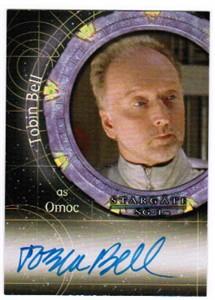 Tobin Bell certified autograph Stargate SG-1 card