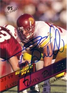 Tony Boselli certified autograph 1995 USC Trojans card