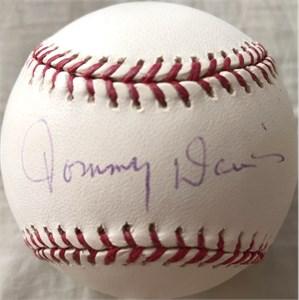 Tommy Davis autographed MLB baseball
