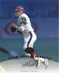 Todd Collins autographed Buffalo Bills 1997 Leaf 8x10 photo card