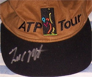 Todd Martin autographed ATP Tour logo tennis cap or hat