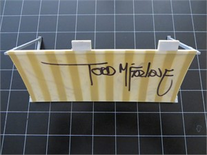 Todd McFarlane autographed Walking Dead Dale's RV Construction Set toy canopy