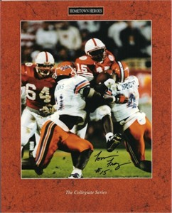 Tommie Frazier autographed Nebraska Cornhuskers 8x10 1996 Fiesta Bowl photo
