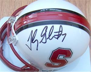 Toby Gerhart autographed Stanford Cardinal mini helmet